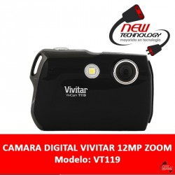 Camara Digital Vivitar 12mp Zoom X4 Pantalla 1,8 Tarjeta Sd