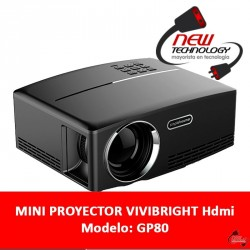 Mini Proyector Vivibright Gp80 Hdmi Pc Notebook 1920x1080p