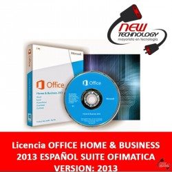 Licencia Office Home & Business 2013 Español Suite Ofimatica