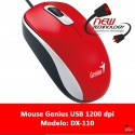 Mouse Genius Dx-110 Usb 1200 Dpi