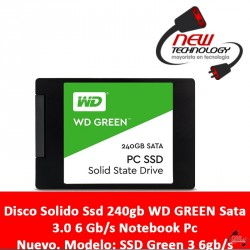Disco Solido Ssd 240gb Wd Green Sata 3.0 6 Gb/s Notebook Pc