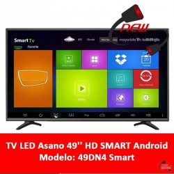 Tv Led Asano 49'' Full Hd Smart Android Con Sinto. Digital