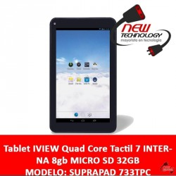Tablet IVIEW Quad Core Tactil 7 INTERNA 8gb MICRO SD 32GB