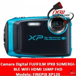 Camara Digital FUJIFILM IPX8 SUMERGIBLE WIFI HDMI 16MP FHD