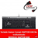 Teclado Gamer Corsair RAPTOR K40 Retroiluminado