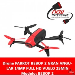Drone PARROT BEBOP 2 GRAN ANGULAR 14MP FULL HD VUELO 25MIN