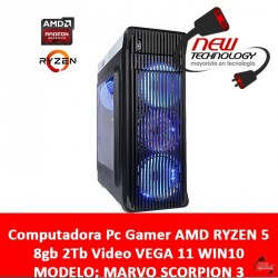 Computadora Pc Gamer AMD RYZEN 5 8gb 2Tb Video VEGA 11 WIN10