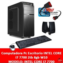 Computadora Pc Escritorio I7 7700 2tb 8gb Ddr4 Win 10