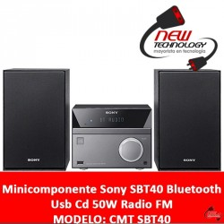 Minicomponente Sony SBT40 Bluetooth Usb Cd 50W Radio FM