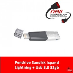 Pendrive Sandisk Ixpand Lightning + Usb 3.0 32gb