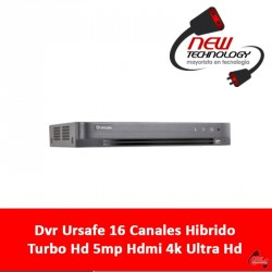 Dvr Ursafe 16 Canales Hibrido Turbo Hd 5mp Hdmi 4k Ultra Hd