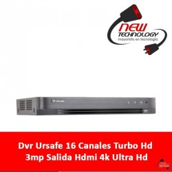 Dvr Ursafe 16 Canales Turbo Hd 3mp Salida Hdmi 4k Ultra Hd