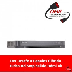Dvr Ursafe 8 Canales Hibrido Turbo Hd 5mp Salida Hdmi 4k