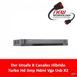 Dvr Ursafe 8 Canales Hibrido Turbo Hd 3mp Hdmi Vga Usb X2