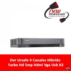 Dvr Ursafe 4 Canales Hibrido Turbo Hd 5mp Hdmi Vga Usb X2