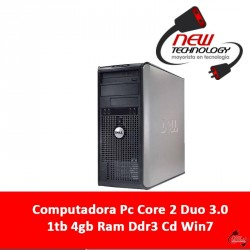 Computadora Pc Core 2 Duo 3.0 1tb 4gb Ram Ddr3 Cd Win7