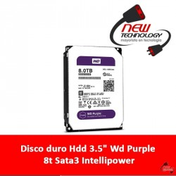 "Disco duro Hdd 3.5"" Wd Purple 8t Sata3 Intellipower"