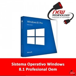 Sistema Operativo Windows 8.1 Profesional Oem