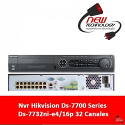Nvr Hikvision Ds-7700 Series Ds-7732ni-e4/16p 32 Canales