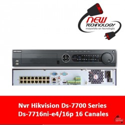 Nvr Hikvision Ds-7700 Series Ds-7716ni-e4/16p 16 Canales