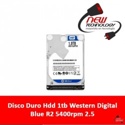 Disco Duro Hdd 1tb Western Digital Blue R2 5400rpm 2.5