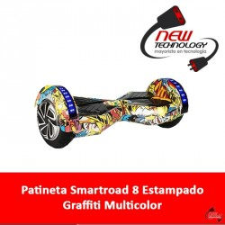 Patineta Smartroad 8 Estampado Graffiti Multicolor