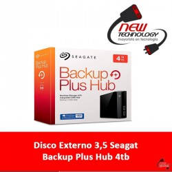Disco Externo 3,5 Seagat Backup Plus Hub 4tb
