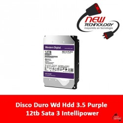 Disco Duro Wd Hdd 3.5 Purple 12tb Sata 3 Intellipower