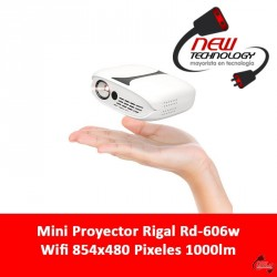 Mini Proyector Rigal Rd-606w Wifi 854x480 Pixeles 1000lm