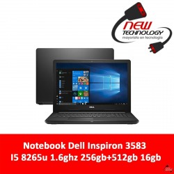 Notebook Dell Inspiron 3583 I5 8265u 1.6ghz 256gb+512gb 16gb