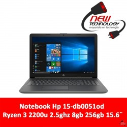 Notebook Hp 15-db0051od Ryzen 3 2200u 2.5ghz 8gb 256gb 15.6""
