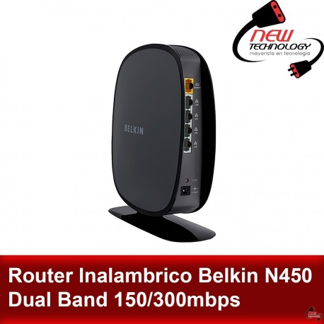 Router Inalambrico Belkin N450 Dual Band 150/300mbps