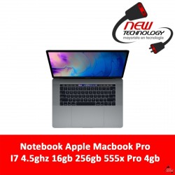 Notebook Apple Macbook Pro I7 4.5ghz 16gb 256gb 555x Pro 4gb