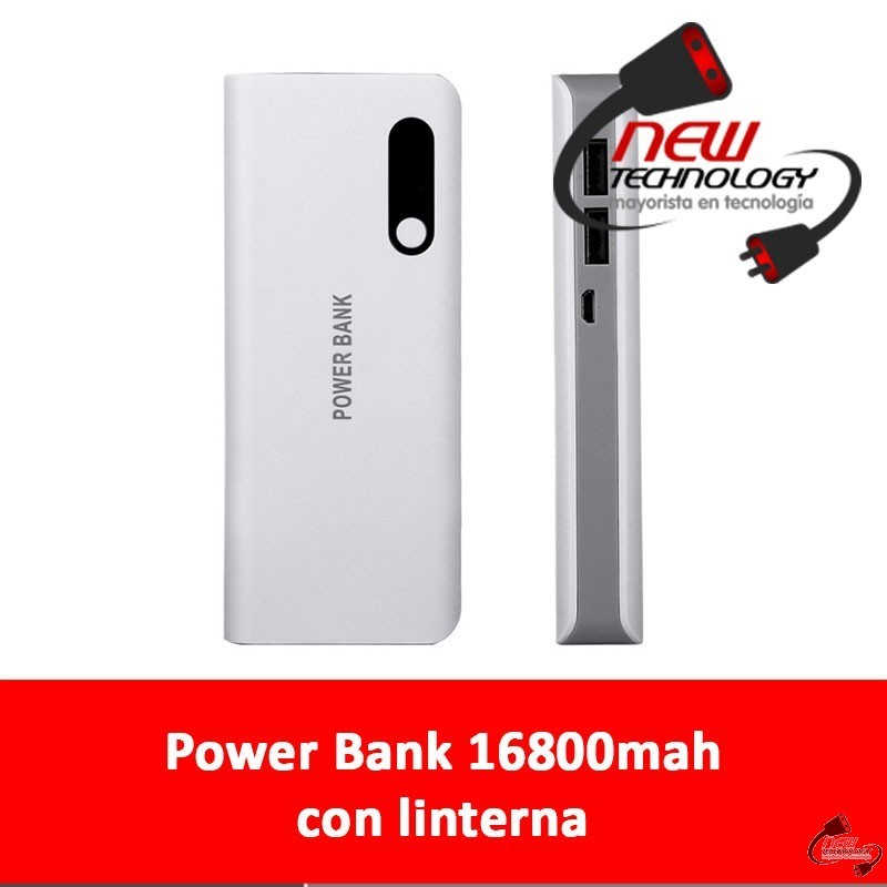 power bank 16800mah con linterna newtechnology mayorista en tecnolog a. Black Bedroom Furniture Sets. Home Design Ideas