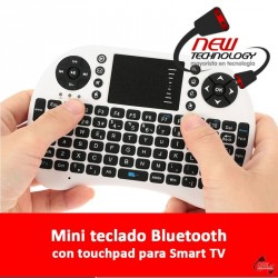 Mini teclado bluetooth c/touchpad