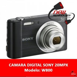 Camara Digital Sony w800 20,1mp Zoom 5x Lcd 2,7 Video Hd Bateria