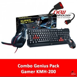 Combo Genius Pack Gamer KMH-200