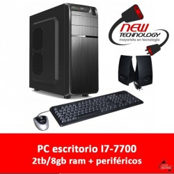 PC escritorio i7-7700 2TB 8gb ram