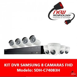 Kit Dvr Seguridad Samsung 8 Camaras Full Hd 8 Canales