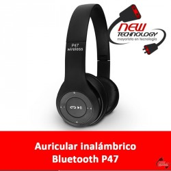 Auricular inalambrico/bluetooth P47