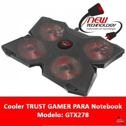 Cooler Trust Gamer Gtx278 Para Notebook Hasta 17,3
